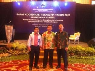 Kepala Dinas Perhubungan Kominfo Kab.Lima Puluh Kota menghadiri Rakor Teknis PPI Tahun 2015 Kementerian Kominfo Di Surabaya.