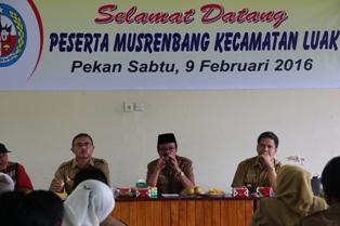 Acara Musrenbang di Kecamatan Luak di Buka oleh PJ Bupati