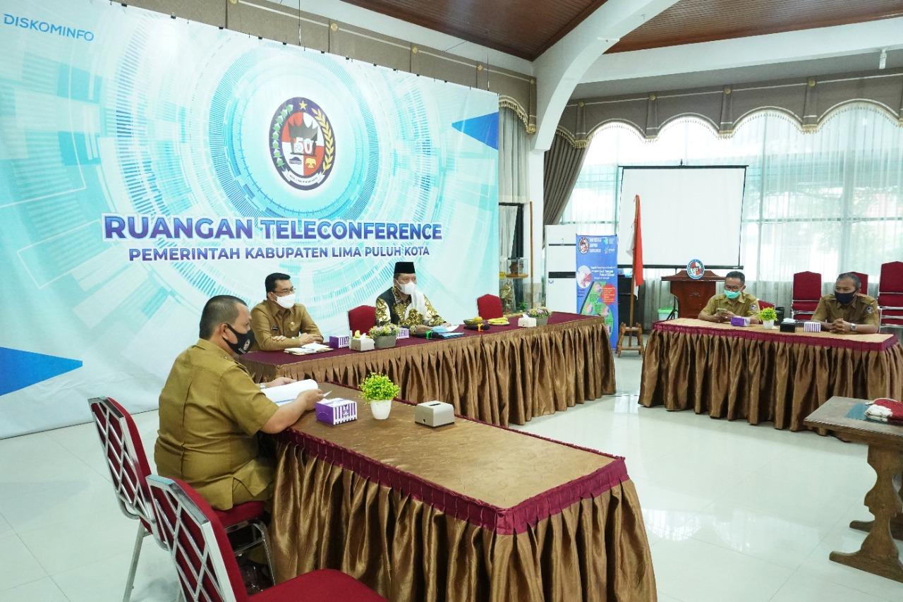 Pemkab Lima Puluh Kota Ikuti Rapat Kerja Nasional (Rakernas) dan Pelaporan Keuangan Pemerintah Tahun 2020 Secara Virtual