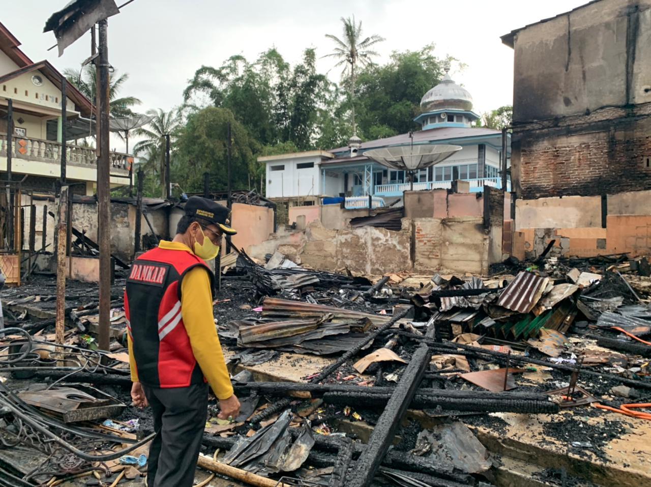 Pasar Baruah Gunuang  Terbakar, Bupati: Data Jumlah Kerugian Yang Terjadi