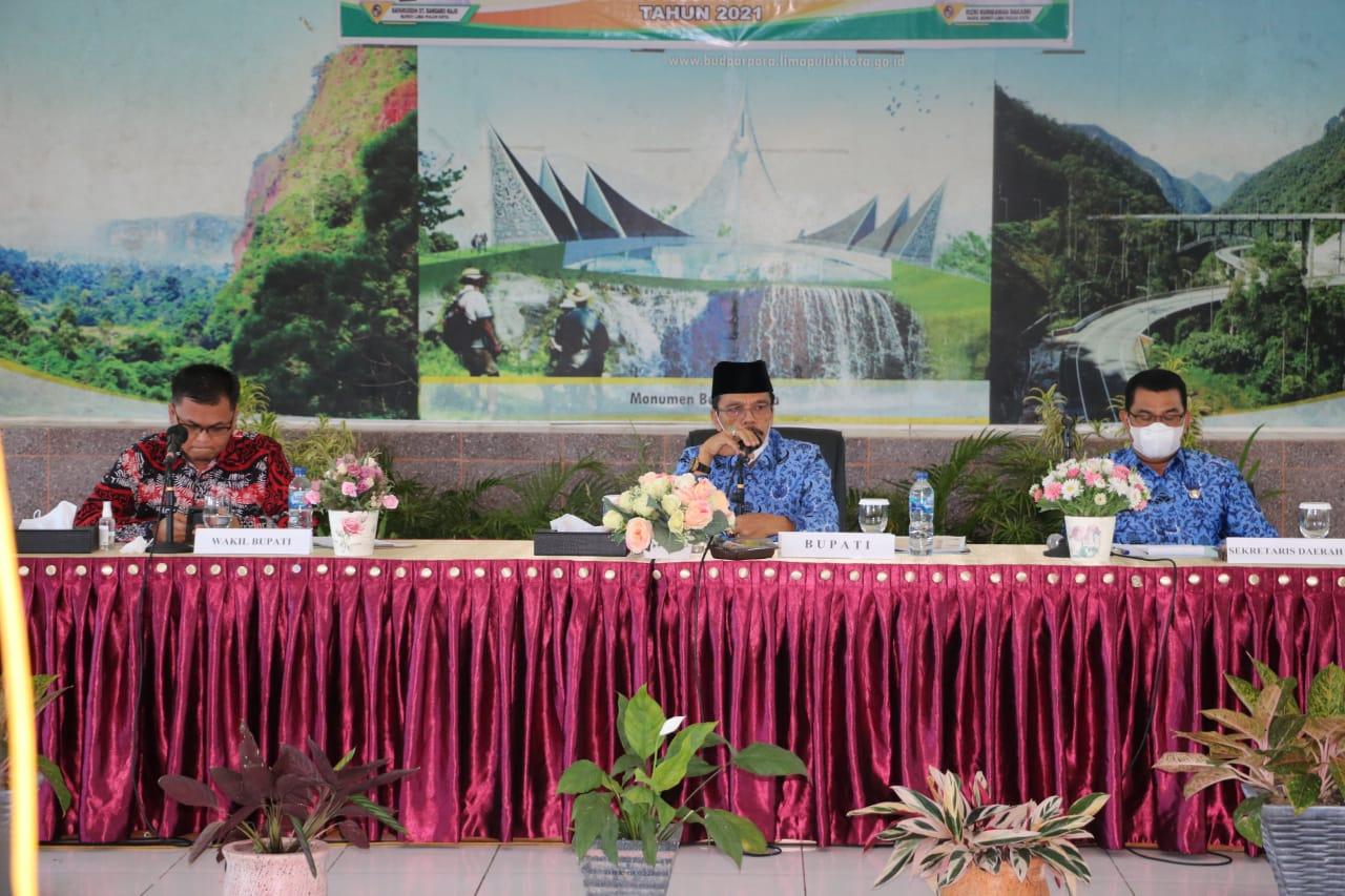 Optimalkan Penyelenggaraan Pemerintah, Bupati dan Wakil Bupati Lima Puluh Kota Pimpin Rakor OPD