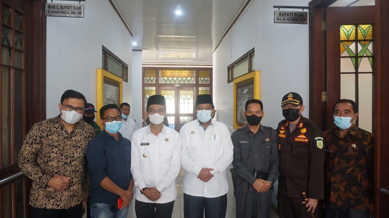 Kunjungan Kerja, Bupati Safaruddin Puji Pakem Kabupaten Siak