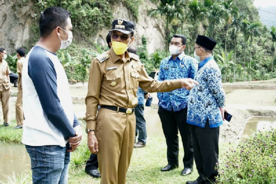Ditetapkan KKP-RI, Bupati Safaruddin Kunjungi Budidaya Ikan Gurame Sago Asli Lima Puluh Kota