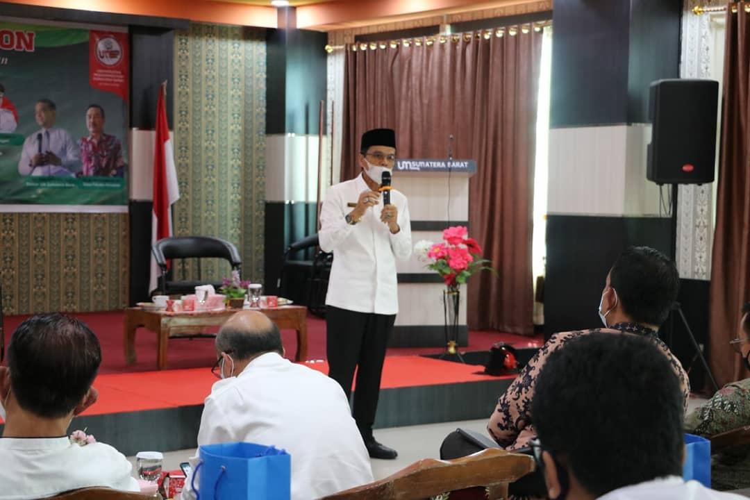 Didaulat Sebagai Pembicara Pada FGD UMSB, Bupati Lima Puluh Kota Dukung Revitalisasi Pertanian Gambir
