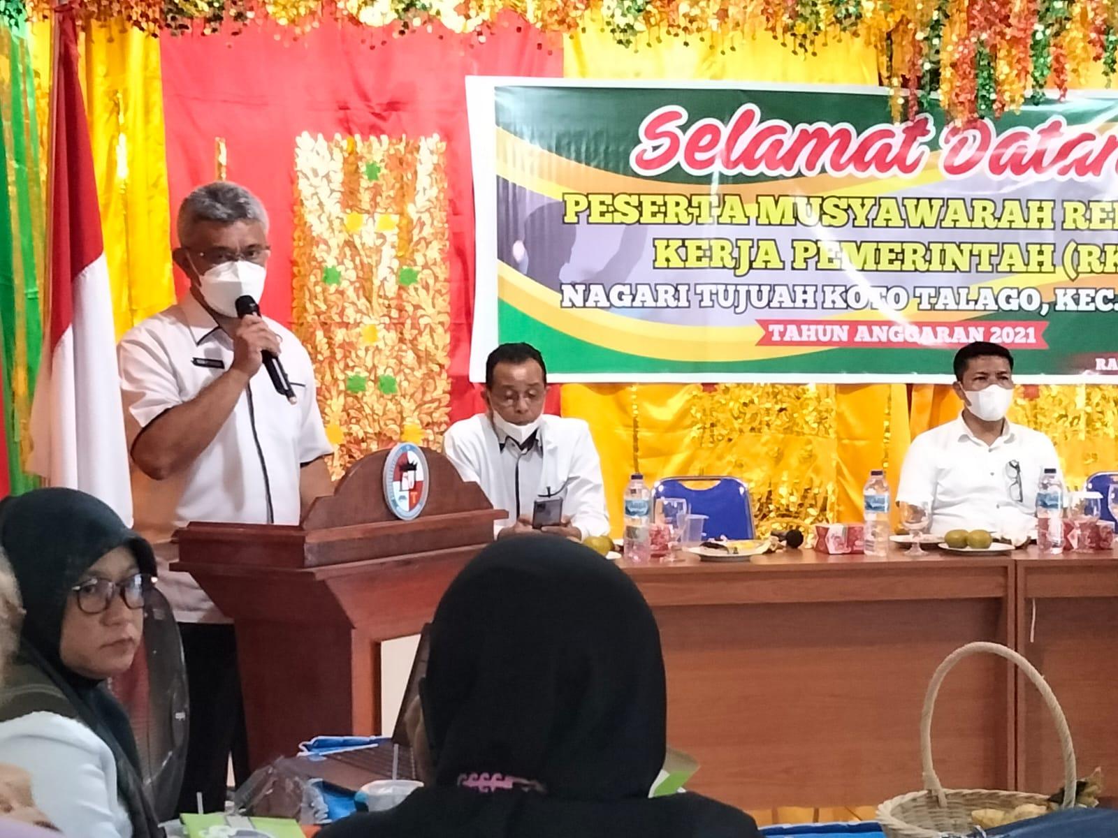 Nagari Tujuah Koto Talago Laksanakan Musyawarah Rencana Kerja Pemerintah (RKP) Tahun Anggaran 2021